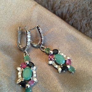 Jewelry - Multi gemstone earings